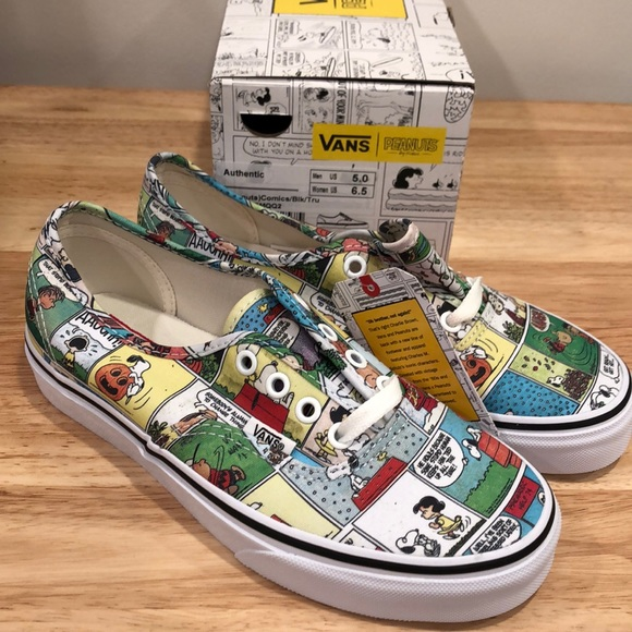 44a35092ac9e Vans Peanuts Comic Strip sz 6.5 Sneakers Shoes